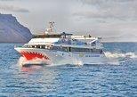 Ferry barato de regreso desde Orzola en Lanzarote a la isla de La Graciosa.. Lanzarote, ESPAÑA