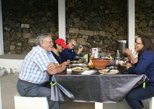 Almuerzo de barbacoa al aire libre. Terceira, PORTUGAL