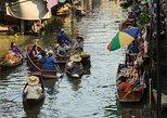 Excursión privada a Mae Klong y los mercados flotantes de Damnoen Saduak.,