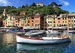 Portofino, Santa Margherita Ligure com embarque no porto de Gênova. Genova, Itália