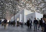 Entrada al Museo del LOUVRE de Abu Dhabi con transporte de lujo. Abu Dabi, EMIRATOS ARABES UNIDOS