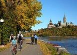 Recorrido en bicicleta por la capital de la nación, autoguiado. Ottawa, CANADA