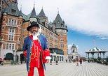 Visita guiada por el Fairmont Le Château Frontenac en la ciudad de Quebec. Quebec, CANADA