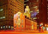Excursão a pé na Freedom Trail no centro de Boston. Boston, MA, ESTADOS UNIDOS