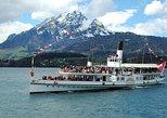 Crucero por el lago de Lucerna, Tren de cremallera del Monte Pilatus, Teleférico desde Lucerna. Lucerna, SUIZA