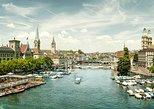 Tour de Zurich con la tienda de chocolate Lindt y el crucero por el lago Zurich. Zurich, SUIZA