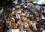 One day Kanchanaburi : Floating market and Kwai River. Kanchanaburi, Thailand