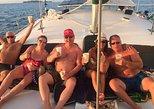Excursión en catamarán al atardecer con barra libre desde Playa Hermosa-Coco. Playa Flamingo, COSTA RICA