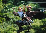 Roatan Shore Excursion: Zip Line Adventure with City Tour Shopping and Beach. Roatan, Honduras