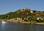 El crucero por el río Rin desde Coblenza a Boppard, Ehrenbreitstein. Koblenz, ALEMANIA