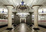 Excursão a pé da Estação de Metrô da Era Soviética de São Petersburgo. San Petersburgo, RÚSSIA