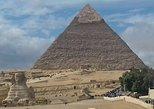 Visita a las pirámides de Guiza y la esfinge para escalas breves. Guiza, EGIPTO