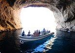 Paseo en lancha rápida por Ibiza y tour en cueva con equipo de snorkel. Ibiza, ESPAÑA
