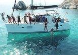 Cruzeiro de um dia em catamarã em Naxos e pequenas Cíclades. Miconos, Grécia