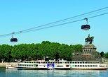 Crucero por el río Rin desde Coblenza a San Goare: fortaleza Ehrenbreitstein. Koblenz, ALEMANIA