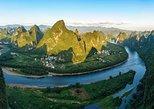 Mini Group Tour: Xianggong Hill, Yulong River Biking and Rafting Along Li River. Yangshuo, CHINA