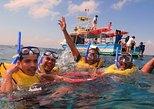 Mergulho com snorkel no recife de corais de Cozumel em barco com fundo de vidro com guia,