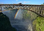 Victoria Falls Bridge Bungee Jump, Bridge Swing, or Zipline. Cataratas Victoria, Zimbabwe