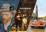 Van Gogh Museum, Rijksmuseum Skip the Line Tour, Canal Cruise. Amsterdam, HOLLAND