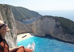 Zakynthos island: One day tour to Navagio Shipwreck Beach Blue Caves & top view. Zante, Greece