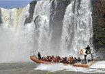 Excursión a las cataratas argentinas en barco desde Foz do Iguacu. Puerto Iguazu, ARGENTINA