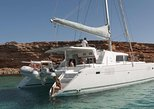 Luxury Catamaran Semi private cruise with meals & drinks and transportation., Miconos, GRECIA