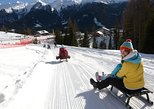 The most famous sledge slope in the Dolomites and a panoramic tour by car. Bolzano, ITALY