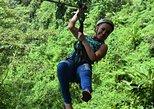 Excursión combinada en Costa Rica de día completo: Tirolina, cascadas, volcán y aguas termales. San Jose, COSTA RICA