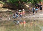 Excursión combinada con tubing en cueva y tirolina desde la ciudad de Belice,