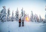 Wilderness snowshoe adventure. Rovaniemi, FINLAND