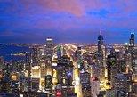 Entrada para o deque de observação do 360 Chicago, com Prosecco,