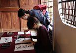 Calligraphy Demonstration and Lesson at a Traditional Japanese House. Beppu, JAPAN
