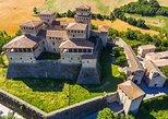 Parmigiano Reggiano, Parma Ham and Torrechiara Castle tour from Parma. Parma, ITALY