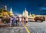 Moscú por la noche, a bordo de un monovolumen de la Unión Soviética. Moscu, RUSIA