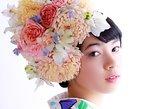 PREMIUM Course : Kimono Rental, Makeup & HANANINGEN Flower Hairdo Photoshoot. Beppu, JAPAN