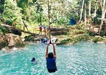 Irie Blue Hole Adventure & Bamboo Blu Beach Club Experience from Kingston,