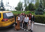 Day drive from Moscow to Golden Ring (Sergiev Posad, Vladimir, Suzdal) by car. Moscow, RUSSIA