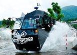 Hakone Lake Ashi Amphibious Bus (Ninja Bus Water Spider). Hakone, JAPAN