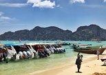 Excursão de Lancha nas Ilhas Phi Phi e Bambu, mergulho com snorkel, saindo de Krabi. Krabi, Tailândia