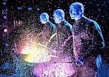 Blue Man Group no Briar Street Theater em Chicago. Chicago, IL, ESTADOS UNIDOS