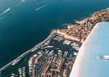 Fly above French Riviera in a Private Plane. Cannes, FRANCE