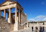 Special Roman town DOUGGA through the Andalusian city Testour. Tunez, Tunisia