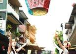 Pingxi, Sky lantern in Shifen, Jiufen, Shifen night view. Taipei, TAIWAN