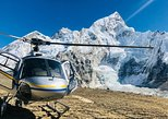 Landing Everest base camp by Helicopter. Katmandu, Nepal