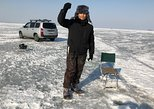 Try your luck on winter fishing. Including lunch in a cozy cafe. Vladivostok, RUSSIA