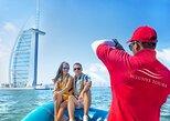Cruzeiro de barco RIB guiado em Dubai Palm Jumeirah e Palm Lagoon,