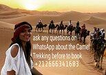 Paseo en camello por la noche en el campamento del desierto de Merzouga,