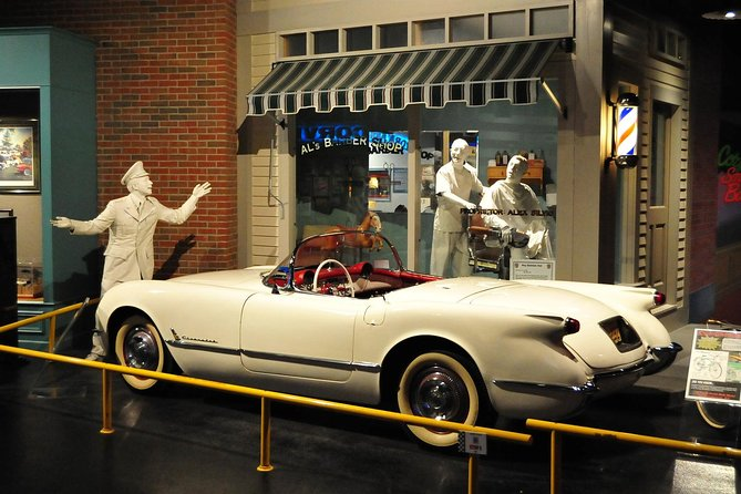 """Discover why the Corvette is """"America's Sports Car."""" See over 70 Corvettes from past to present as well as mint classics, prototypes and one-of-a-kind cars. Enjoy hands-on activities in the """"Corvette Cave In"""" exhibit, KidZone and trivia kiosks. Imagine driving your very own 'Vette as you sit behind the wheel of a late model beauty. Better yet, register to win one by purchasing a raffle ticket and shop until you drop at the Corvette Store!"""