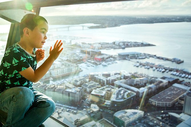 Enjoy this admission to the The Sky Tower in Auckland, which has stood tall at 328 meters as an icon of the city's sky line for 20 years. For 1 to 2 hours, you will be able to view breathtaking views from three observation levels, spot key landmarks, including the Harbour Bridge, Mount Eden and Waiheke Island, volcanoes, Rangitoto Island and other historical locations within the greater Auckland area. If you're visiting Auckland for the first time then a trip up the Sky Tower is a must. Transportation and food and beverages are not included.<br><br>