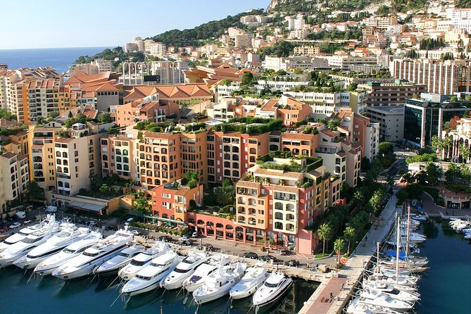 Start your half-day tour with a panoramic view of Villefranche en routeto the medieval village of Eze andvisit itsperfume factory. When youreach the Principality of Monacoyour driver-guide takes you on a spin down theFormula One racetrack to Monte Carlo, which features outstanding architecture.